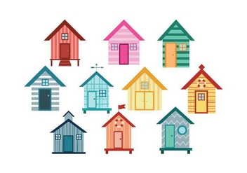 Free Beach Huts Vector - бесплатный vector #427475