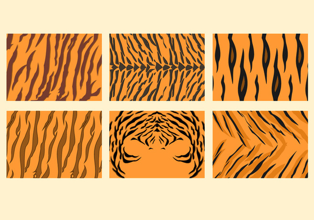 Free Tiger Stripe Pattern Vectors - Free vector #427565
