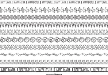 Cute Sketchy Easter Borders Collection - Free vector #427595