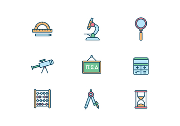 Science and Education Icons - vector #427605 gratis