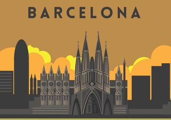 Sagrada Familia Illustration Vector - Free vector #427665