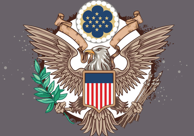 Great Seal of the United States Vector - бесплатный vector #427675