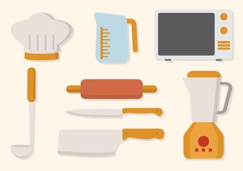 Flat Kitchen Utensil Vector - бесплатный vector #427685