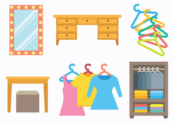 Free Dressing Room Icons Vector - Free vector #427735