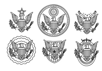Eagle seal hand drawn outline vector - бесплатный vector #427765