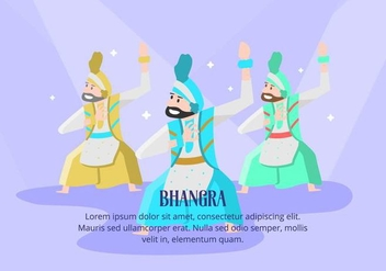 Bhangra Background - vector gratuit #427795