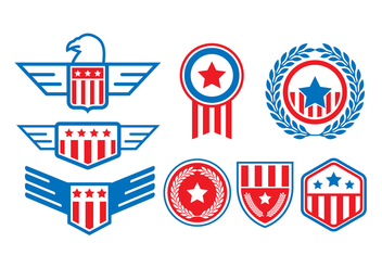 Free United States Seal Badge Vectors - vector gratuit #427825