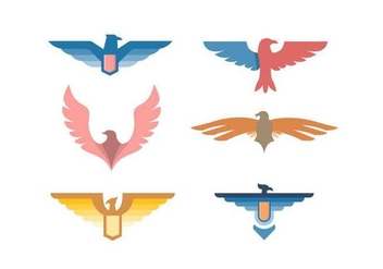 Free Elegant Eagle Badge Vectors - Free vector #427835