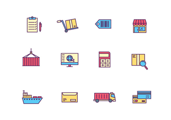 Logistics and Delivery Icons - vector gratuit #427995