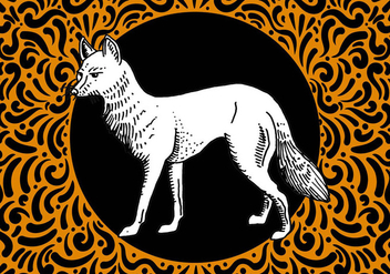 Ornate Hand Drawn Fox Design - Free vector #428035