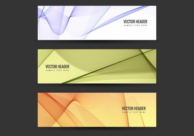 Free Vector Colorful Headers Set - Free vector #428065