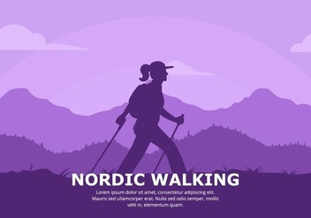 Nordic Walking Background - Free vector #428085