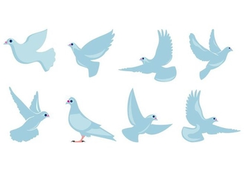 Free Flat Dove Flying Vector - Kostenloses vector #428095
