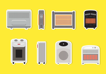 Various Heater Vectors - бесплатный vector #428135