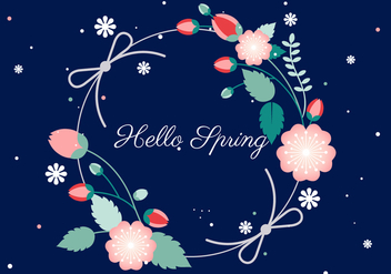 Free Flower Wreath Vector Background - Free vector #428205