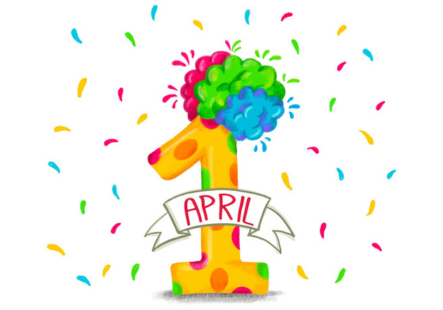 Colorful Funny Number One for April Fool's Day - Free vector #428215