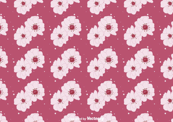 Peach Blossom Floral Background - vector gratuit #428285