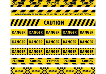 Danger Tape Vectors - vector gratuit #428305