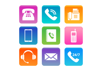 Free Telephone and Communication Vector Icons - бесплатный vector #428315