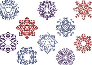 Free Oriental Ornaments Vectors - бесплатный vector #428325