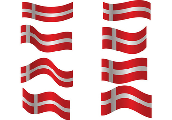 Danish Flag Vector - vector #428355 gratis