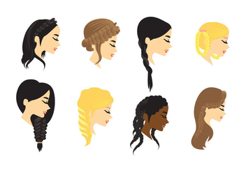 Plait Hair Vector - vector #428445 gratis