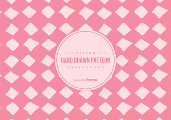 Cute Pink Hand Drawn Style Pattern Background - Free vector #428455