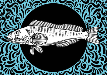 Ornate Fish Design - Kostenloses vector #428465