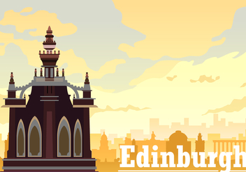 Free Edinburgh in the Afternoon Vector - vector gratuit #428475