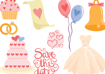Free Wedding Vectors - бесплатный vector #428485