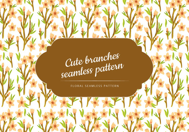 Vector Floral Branches Seamless Pattern - Free vector #428495