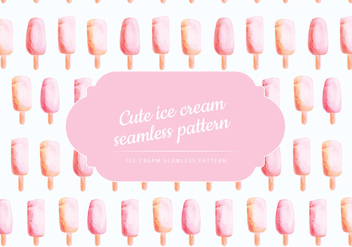 Vector Hand Drawn Ice Cream Pattern - Free vector #428505