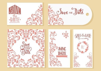 Free Wedding Invitation Cards Vector - Kostenloses vector #428515