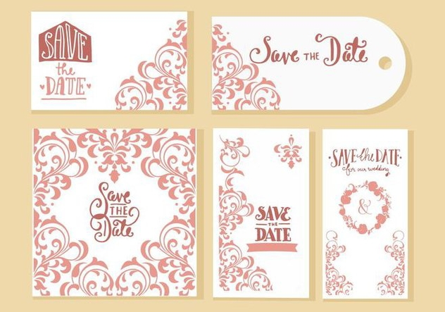 Free Wedding Invitation Cards Vector - бесплатный vector #428515