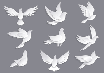 Dove or Paloma Symbols of Peace Vectors - Free vector #428585