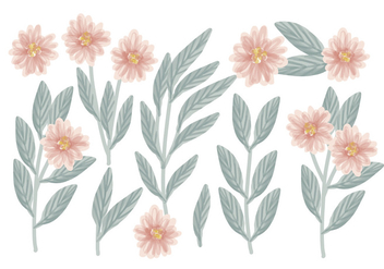 Vector Hand Drawn Floral Compositions - Free vector #428615