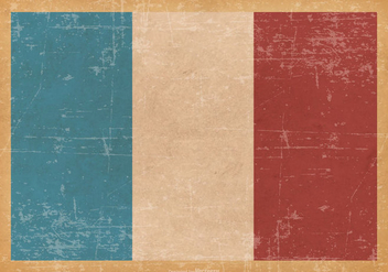 France Flag on Old Grunge Background - vector #428625 gratis