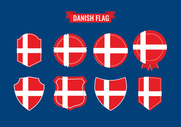 Danish Flag Icon Free Vector - vector gratuit #428665