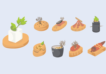 Canapes Slice Vector Illustration - vector #428685 gratis