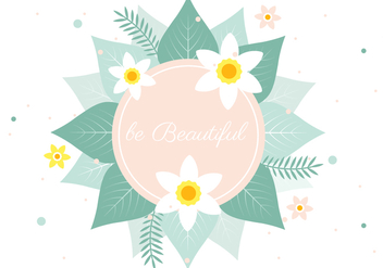 Free Spring Vector Flower Greeting - Kostenloses vector #428695