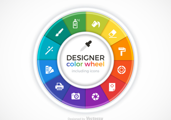 Vector Designer Color Wheel - vector gratuit #428725