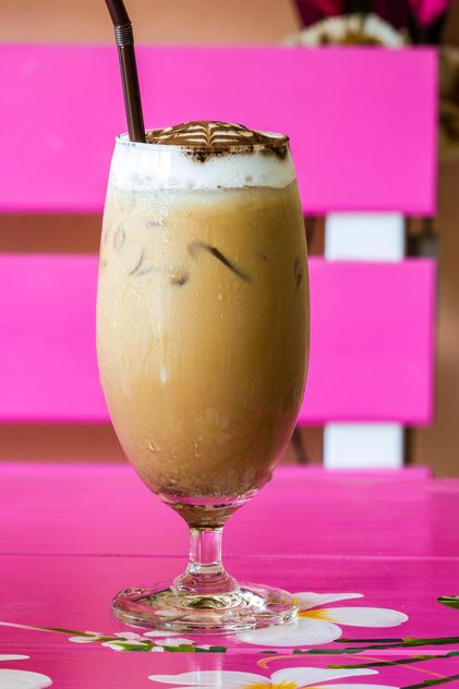 Glass of iced cappuccino - Free image #428745