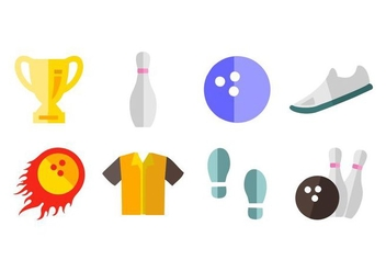 Free Bowling Icons Vector - Free vector #428825