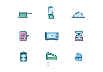 Kitchenware Icons - Free vector #428835