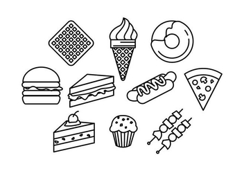 Free Food Line Icons Vector - бесплатный vector #428875