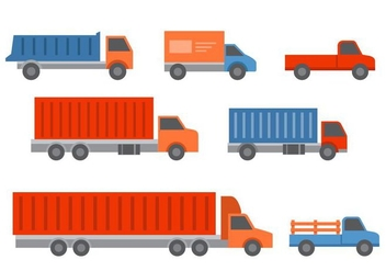 Free Truck and Trailers Icons - Free vector #428895