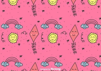 Kids Doodle Pattern - Free vector #428935