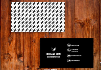 Black and White Business Card Template - vector gratuit #429005