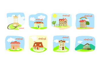 Edinburgh For Children Books Vectors - Free vector #429105