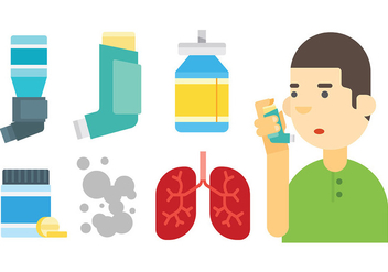 Free Asthma Icons Vector - Kostenloses vector #429115